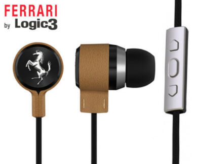 Ferrari Cavallino T150i Earphones -Tan- 3-Button Remote Control Camden South Camden Area Preview