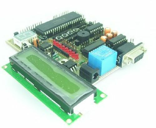 PIC18F452 Development Board, LCD, RS232, IR, Motor Driver, Relay