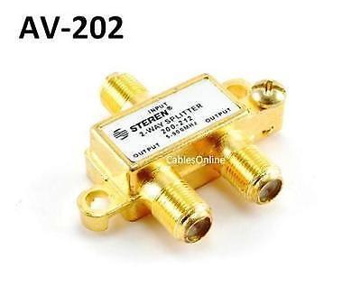 Matv-splitter (2-Way F-Type 5-900MHz Gold-Plated MATV Splitter, CablesOnline AA-202)