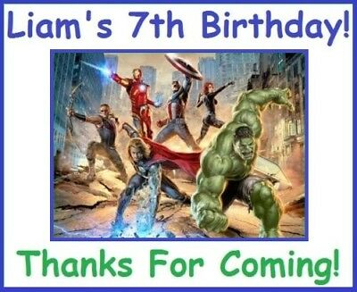 (18)Personalized AvenGers Party Stickers,Birthday Favors,hulk,thor,Labels Supply - Hulk Party Favors