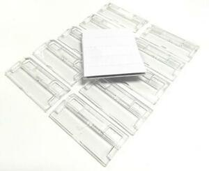 50 x SUSPENSION FILE TABS & INSERTS - CLEAR PLASTIC TABS & WHITE LABELS - £4.99