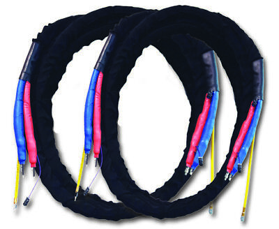 Plural Component 100 Hook Loop Nylon Sleeved High Pressure Heated Hose