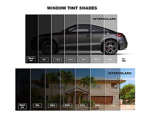 """Window film Tint  5/% dark Charcoal Intersolar® 24/"""" x 10 FT Free Shipping"""
