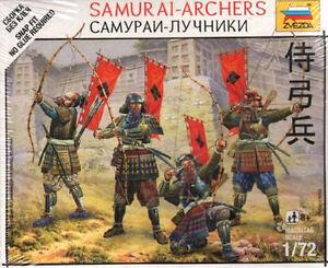 Zvezda 1/72 Samurai-archers # 6404 - Plastic Model Figures