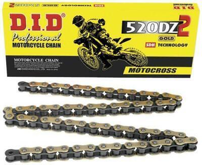 DID 520 DZ2 Chain 120 Links Gold #520DZ2-120