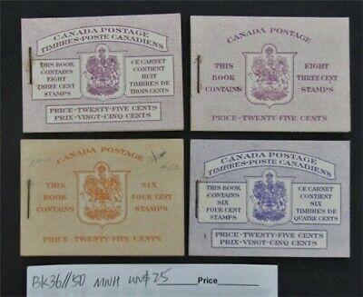 nystamps Canada Stamp # BK36//BK50 Mint OG NH UN$25   L16y3168