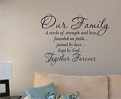 Removable Wall Decal Vinyl Art Mural Home Decor Room Words Stickers Quote Family