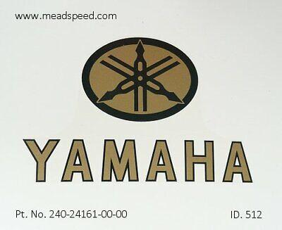 240-24161-00, Yamaha Tank Transfers, Tank Emblem,TA125, TD2, TD3, TZ350, TZ750,