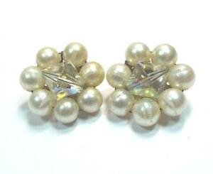 Vintage Pearl Diamond Earrings