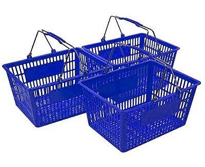 New Shopping Basket Set Set Of 3 Blue