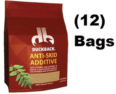 (12) Duckback SC-6310-2  8.44oz Anti Skid Anti Slip Walnut Shell Paint Additive