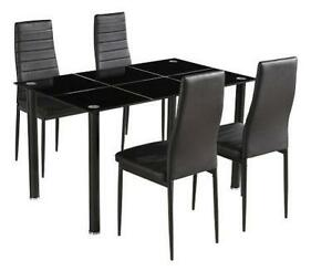 Glass dining table dining furniture ebay black glass dining tables workwithnaturefo