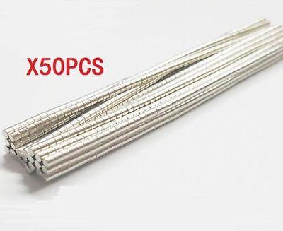 50pcs Strong Mini Round Cylinder Bar Magnets 22mm Rare Earth Neodymium N35