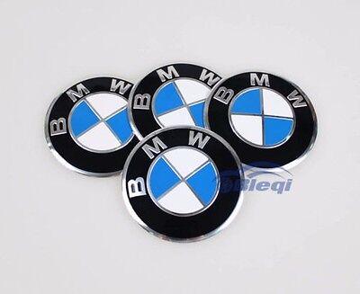 4pcs 65mm Car Emblem Wheel Center Hub Cap Emblem Badge Sticker For BMW