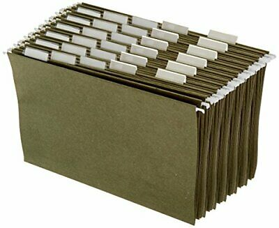 Amazon Basics Hanging Office Cabinet File Folders - Legal Size Green - Pack O...