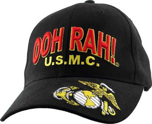 OOH RAH! U.S.M.C. with EGA Cap-Embroidered-Licensed