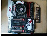 Intel i5 6500 Skylake CPU Gigabyte Z170x Gaming 7 Mobo Akasa CPU Air Cooler