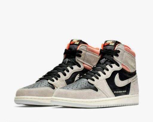 0ad79334e4fed1 Nike Air Jordan 1 Retro High OG Neutral Grey Hyper Crimson UK 8.5 ...