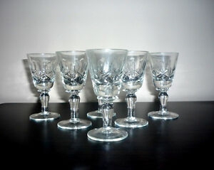 """Crystal Glasses .. NEW .. 3 1/4"""" High ... never used .. Crystal"""