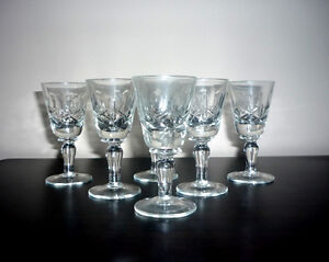 "Crystal Glasses .. NEW .. 3 1/4"" High ... never used .. Crystal"