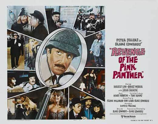 REVENGE OF THE PINK PANTHER Movie POSTER 22x28 Half Sheet B Peter Sellers
