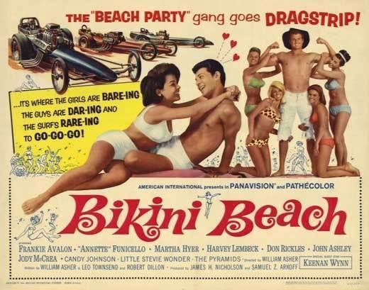 BIKINI BEACH Movie POSTER 22x28 Half Sheet Annette Funicello Frankie Avalon