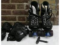 Roller Skates. Quad Skates snd Pads
