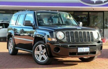2008 Jeep Patriot MK MY2007 Sport CVT Auto Stick Black 6 Speed Constant Variable Wagon