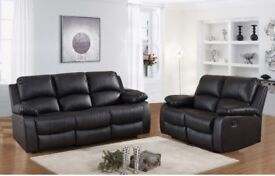 BLACK LEATHER RECLINER WITH CUPHOLDER ONLY £499 RRP £1200