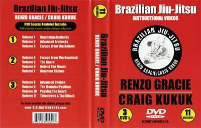 RENZO GRACIE Craig Kukuk 3 DVD Brazilian Jiu Jitsu BJJ MMA B434