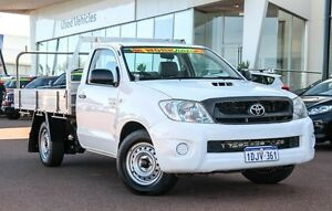 2010 Toyota Hilux KUN16R MY10 SR White 5 Speed Manual Cab Chassis Wangara Wanneroo Area Preview