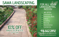 10%off Landscaping,SOD,Interlocking,Patio,Fence* FREE ESTIMATE*