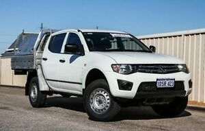 2012 Mitsubishi Triton MN MY12 GLX Double Cab White 4 Speed Automatic Utility Wangara Wanneroo Area Preview