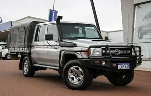 2013 Toyota Landcruiser VDJ79R MY13 GXL Double Cab Silver 5 Speed Manual Cab Chassis Wangara Wanneroo Area Preview