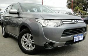 2013 Mitsubishi Outlander ZJ MY13 ES 4WD Grey 6 Speed Constant Variable Wagon