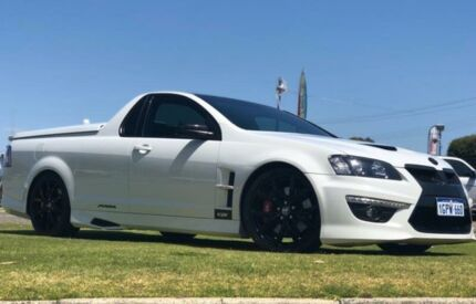 2011 Holden Special Vehicles Maloo E3 R8 White 6 Speed Manual Utility Maddington Gosnells Area Preview