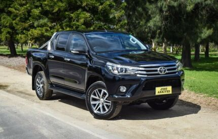 2016 Toyota Hilux GUN126R SR5 Double Cab Black 6 Speed Manual Utility