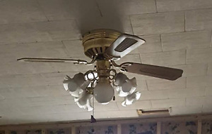 CEILING FAN  , NEW CONDITION,  BEAUTIFUL 5 LIGHT KIT