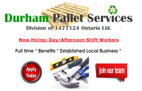 Now Hiring Full-time General Labourers/Pallet Repairers