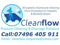 Driveway Cleaning, Patio Cleaning, Decking Cleaning,Drain Unblocking, Blocked Drain Services