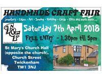 TCF 7th April 2018 Craft Fair - Twickenham