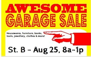 Awesome Yard Sale in St. B! Aug 25th, 08:00 to 13:00