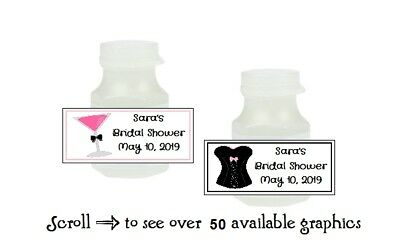 30 Personalized Bridal Shower Bachelorette Bubble Favor Candy Labels -