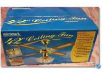 Ceiling Fan new in box Micromark Nassau