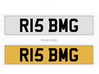 R15 BMG private cherished personalized personal registration number plate, Yamaha R15 etc.