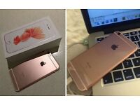 iPhone 6s in rose gold swap with Samsung S7 edge only