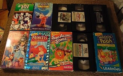Lot of 10 WALT DISNEY SHORT SUBJECT ANIMATED VHS Tapes - Peter & The Wolf +