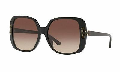 New Authentic Tory Burch TY7132 U Black/Brown 170913 57mm Womens (Tory Burch Oversized Square Sunglasses)