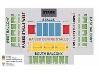 2x Ricky Gervais Tickets - Brighton Centre - Tuesday 9th May - 09.05.17 - West Balcony Row H