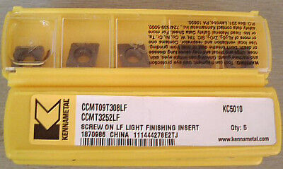 Kennametal Ccmt09t308lf Kc5010 Ccmt3252 Carbide Inserts 50pcs New Free Shipping